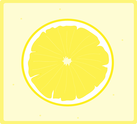 sliced fruit: Lemon Icon, a hand drawn vector illustration of a sliced lemon icon, isolated on a simple background editable.
