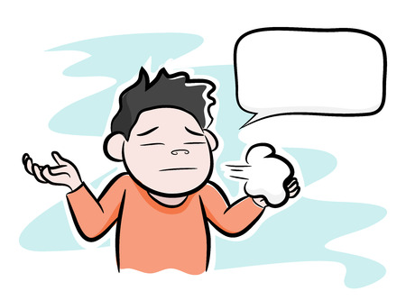 communication cartoon: Man Disappointed or Stressed, a hand drawn of vector illustration of a man disappointedstressed out, isolated on a simple background all objects are editable.