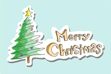 christmas eve: Merry Christmas Greetings, a hand drawn vector illustration of a Merry Christmas greetings card illustration editable.