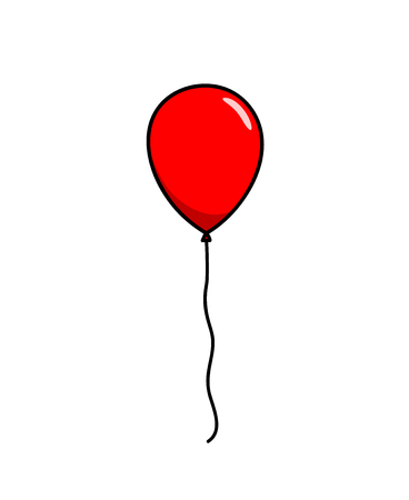 red balloon: Red Balloon, a hand drawn vector illustration of a red balloon, perfect to use for projects like party, birthday celebrations, new years, decoration element, etc. Illustration