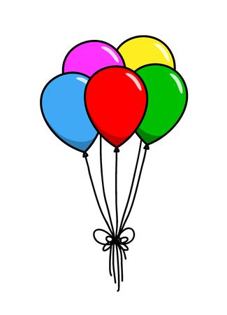 Decoración Globos, un ejemplo del vector dibujado a mano de la decoración de globos, perfecta para usar para proyectos como el partido, fiestas de cumpleaños, años nuevos, elementos de decoración, etc.