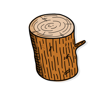 wood log: Wood Log, a hand drawn vector illustration of a wood log.