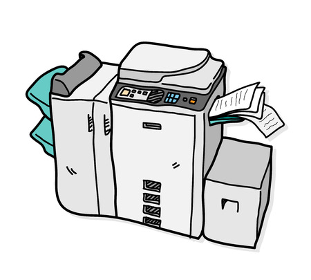 copy machine: Copy Machine, a hand drawn vector illustration of a copy machine. Illustration