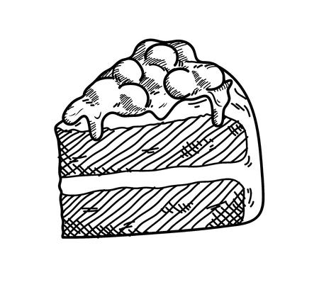 velvet: Red Velvet Doodle, a hand drawn vector doodle illustration of a red velvet cake.
