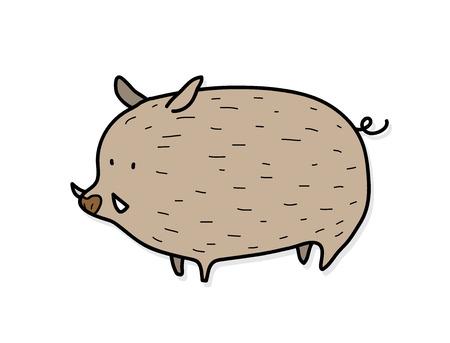 wild boar: Wild Boar,  illustration of a wild boar. Illustration