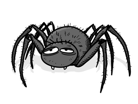 tarantula: Tarantula, a hand drawn vector illustration of a spidertarantula with shadow backdrop (editable). Illustration
