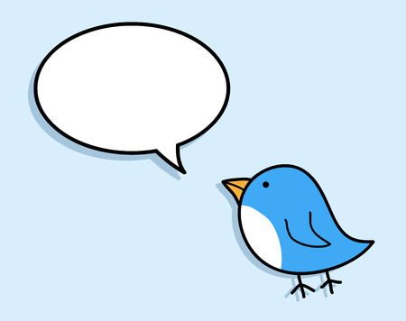 petite: Blue Bird, a hand drawn vector illustration of a cute blue bird, isolated on a simple background (on separate group). Illustration