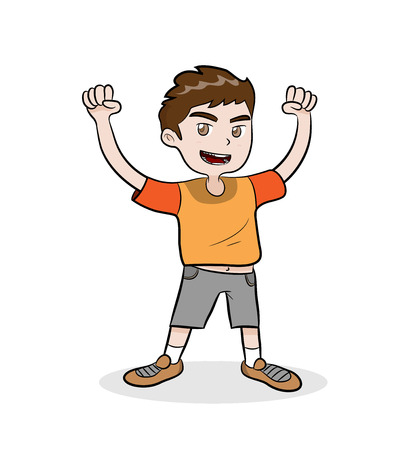 Healthy Kid, a hand drawn vector illustration of a healthy kid.