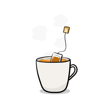 brewing: Tea Brewing,  illustration of tea brewing.