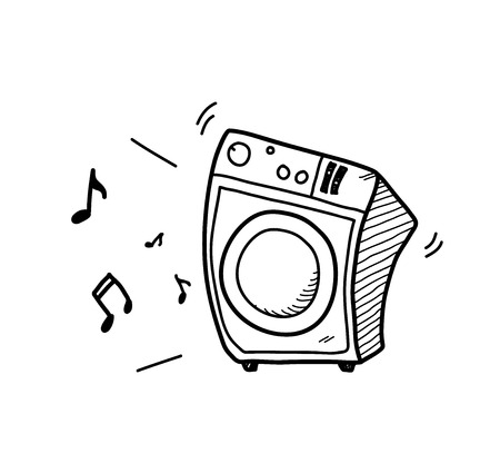 sub woofer: Music Audio Speaker System, a hand drawn vector doodle illustration of a music speaker.