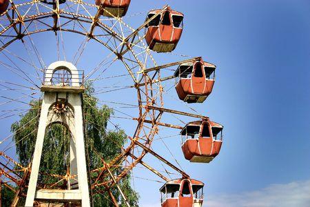 chernobyl: Old vienna wheel in chernobyl.