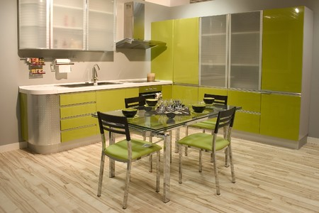 contemporary kitchen: Interior of contemporary kitchen ideal for modern home. Stock Photo