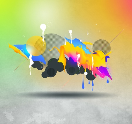 Abstract background design with colourful shapes