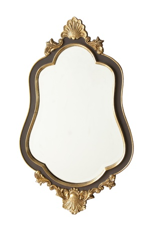 old antique golden mirror Stock Photo - 12339997