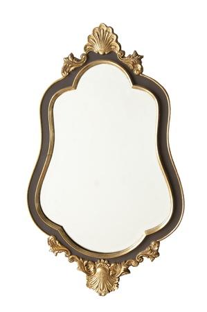 spiegelbeeld: oude antieke gouden spiegel