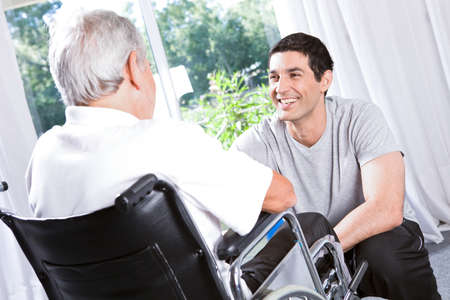 respect: At a retirement house Stock Photo