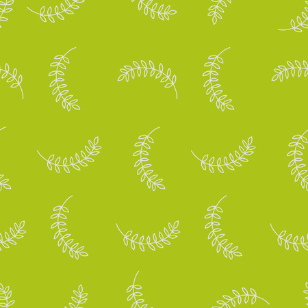 chartreuse: seamless pattern with branches and leaves on chartreuse background