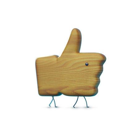 bulk memory: wooden 3D like icon with legs and an eye, icon character, like object