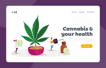 Alternative Cbd Remedy or Medication Landing Page Template. Light Drugs for Personal Use. Medical Cannabis Oil and Pills