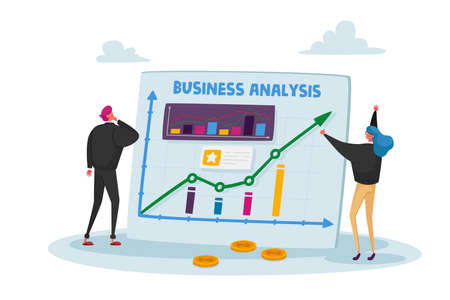 Businesspeople Characters, Office Employees Data Analysis, Project Management App, Consulting, Social Media Marketing