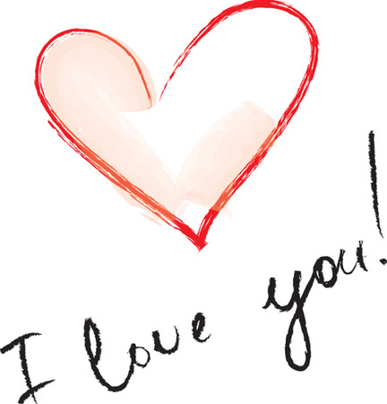 celebration of the heart with an inscription about love Vector