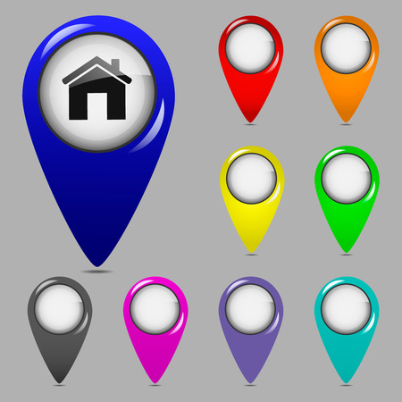 Set of colorful map pointers  Vector illustration Vector