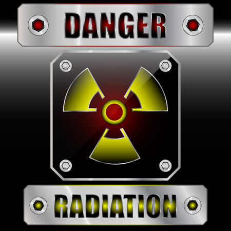 Set symdols radioactive danger. EPS 10. Vector illustration Stock Vector - 29649459