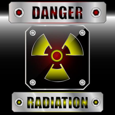 Set symdols radioactive danger. EPS 10. Vector illustration Stock Vector - 29649459
