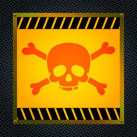 mortal danger: Sign of the mortal danger  Vector illustration
