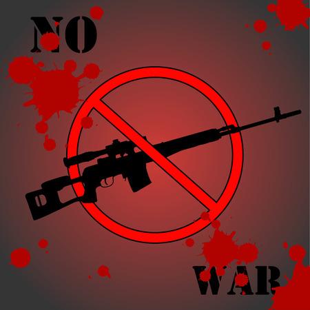 urging: Sign urging to stop the war. Vector illustration Illustration