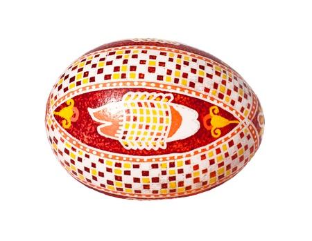 Colorful Ukrainian Easter Egg isolated on white