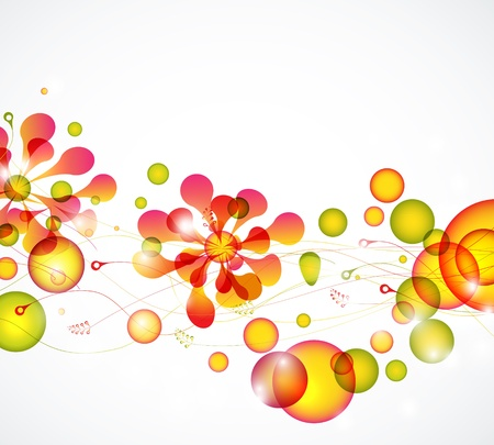 Abstract colorful bubbles floral vector background eps10 Illustration