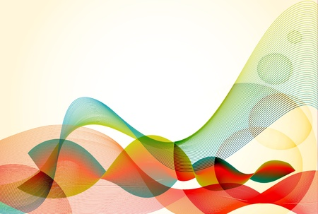 warm colorful abstract vector retro wave eps10