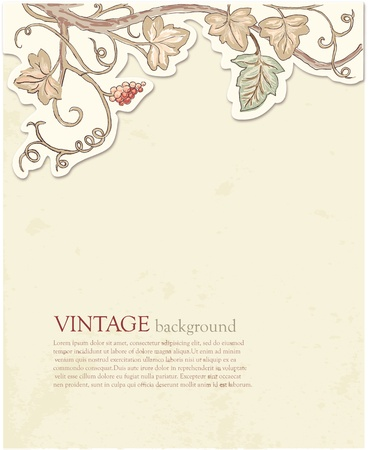 Stylish Vintage Floral Background in pastel tones