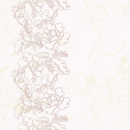 Seamles flower vintage vertical background in pastel colors Illustration