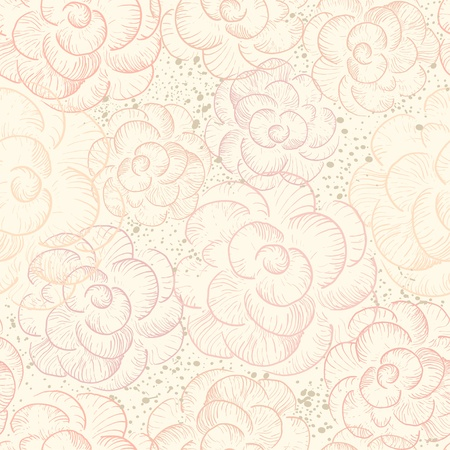 Abstract seamless flower texture in pastel tones