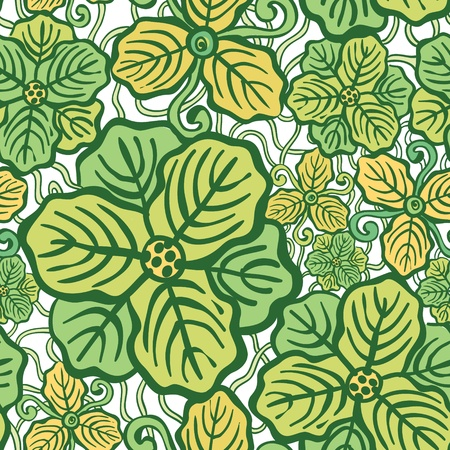 Beautiful flower seamless pattern vector illustration texture Vector