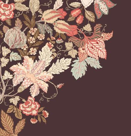 Stylish Vintage Floral Background in pastel tones