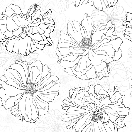 Hand drawn floral wallpaper Could be used as seamless wallpaper, textile, wrapping paper or background
