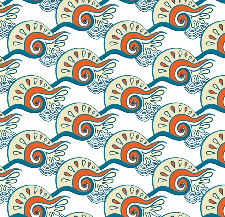 seamless pattern with waves Illustration