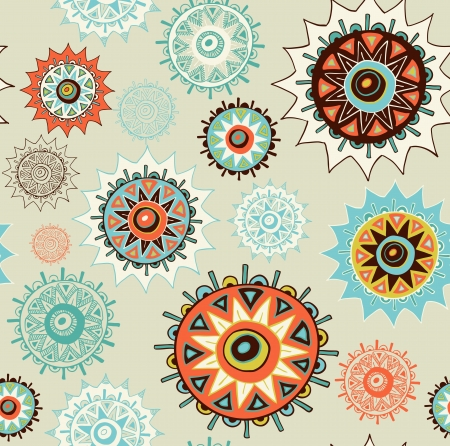 seamless ornament background with colorful circles Vector