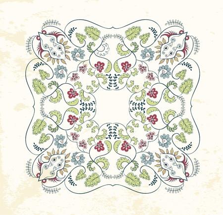 Ornamental mandala background Illustration