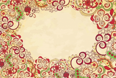 coulorful: Stylised floral ornament invitation background