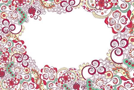 floral ornament invitation background Stock Photo