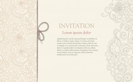 detail invitation: Stylised floral ornament invitation background