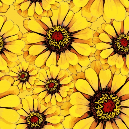 yellow flower seamless texture Vector