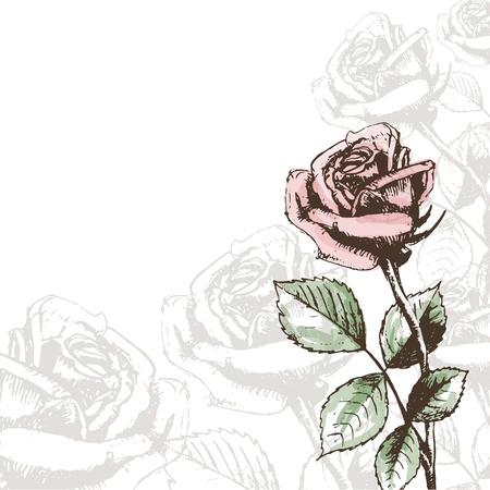 cartoline vittoriane: Vintage rose sfondo
