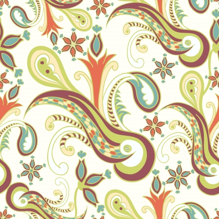 Vintage ornament seamless texture Vector