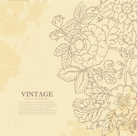 Vintage grunge flower backgriund