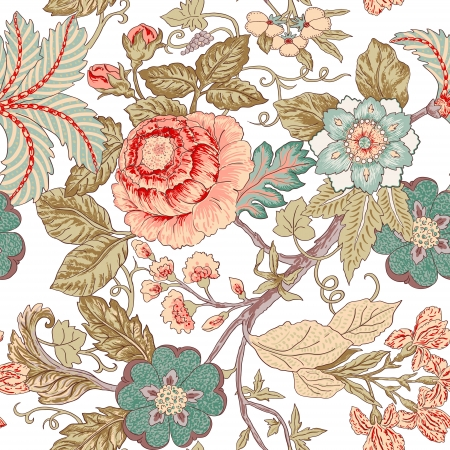 accent: Vintage flower pattern
